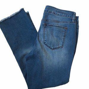 "VIGOSS Stevie Distressed Raw Hem Crop Jeans 28x26"""